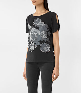 Womens Carnea Mazzy Tee (Fadeout Black) - product_image_alt_text_2