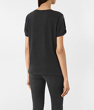 Womens Carnea Mazzy Tee (Fadeout Black) - product_image_alt_text_3