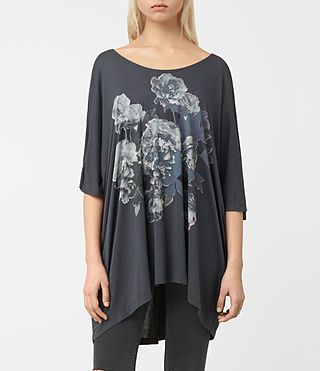 Damen Carnea Dreams Tee (Washed Black)