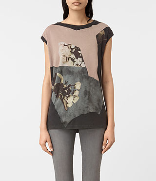 Womens Belle Brooke Tee (Faded Black)