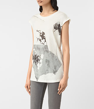Womens Belle Brooke Tee (Chalk White)