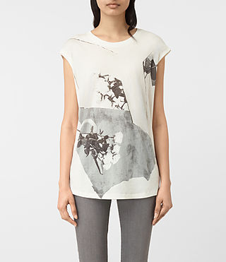 Damen Belle Brooke Tee (Chalk White) - product_image_alt_text_2
