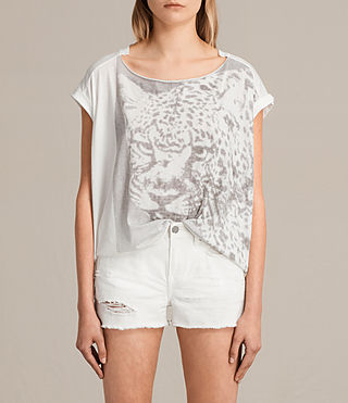 Womens Gepard Pina Tee (Chalk White) - product_image_alt_text_1