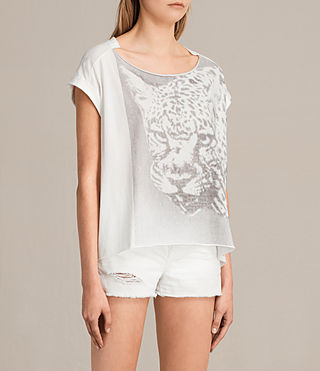 Femmes Gepard Pina Tee (Chalk White) - product_image_alt_text_2