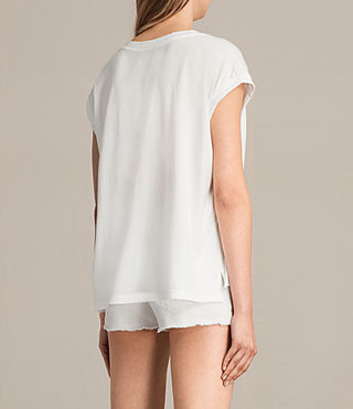 Femmes Gepard Pina Tee (Chalk White) - product_image_alt_text_3