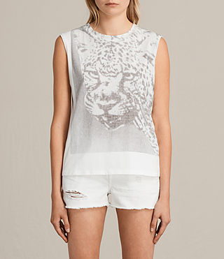 Womens Gepard Elm Tank Top (Chalk White) - product_image_alt_text_1