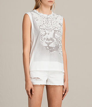 Womens Gepard Elm Tank Top (Chalk White) - product_image_alt_text_2