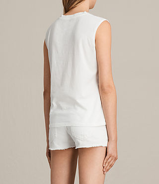 Womens Gepard Elm Tank Top (Chalk White) - product_image_alt_text_3