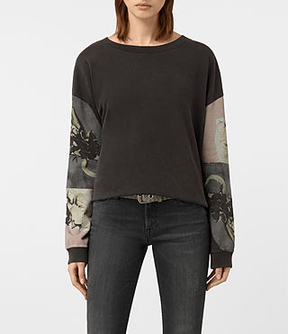 Womens Belle Lo Sweatshirt (Fadeout Black)