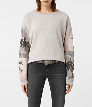 Femmes Sweatshirt Belle Lo (Light Grey Marl)
