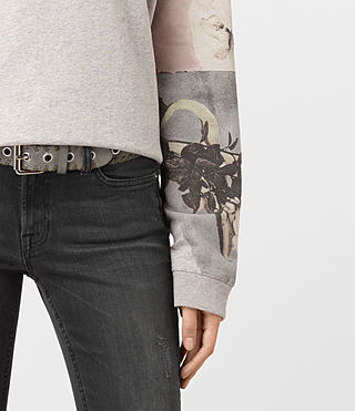 Mujer Belle Lo Sweat (Light Grey Marl) - product_image_alt_text_2