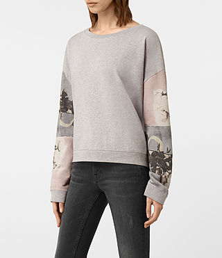 Womens Belle Lo Sweatshirt (Light Grey Marl) - product_image_alt_text_3