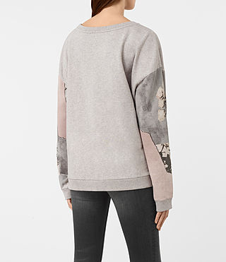 Womens Belle Lo Sweatshirt (Light Grey Marl) - product_image_alt_text_4