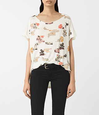 Damen Arosa Pini Tee (Chalk White)
