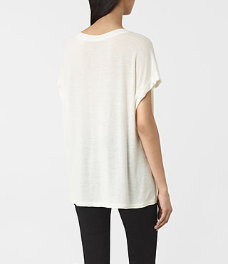 Womens Arosa Pini Tee (Chalk White) - product_image_alt_text_3