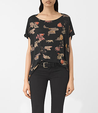 Damen Arosa Pini Tee (Black)