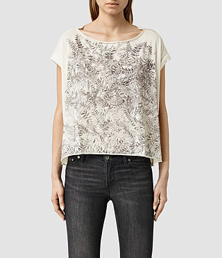 Womens Fern Pina Tee (Chalk White)