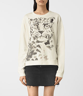 Damen Javan Lo Sweatshirt (Chalk White)