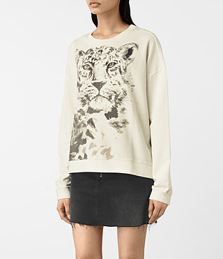 Mujer Javan Lo Sweat (Chalk White) - product_image_alt_text_2