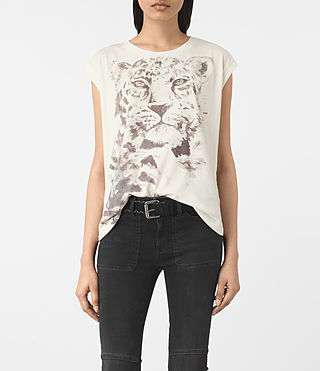 Womens Javan Brookita Tee (Chalk White)