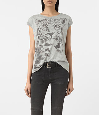 Damen Javan Brookita Tee (Light Grey Marl)