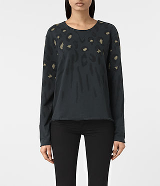 Femmes Sweatshirt Lao Isola (Washed Black) -