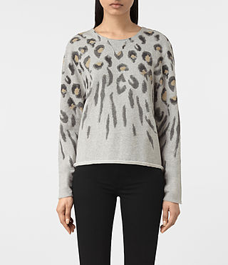 Damen Lao Isola Sweatshirt (Light Grey Marl)