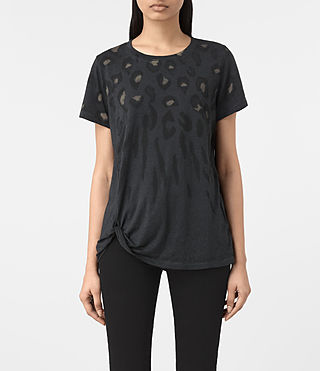 Womens Lao Mellon Tee (DARK NIGHT BLUE) - product_image_alt_text_1