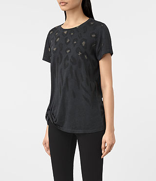 Womens Lao Mellon Tee (DARK NIGHT BLUE) - product_image_alt_text_2