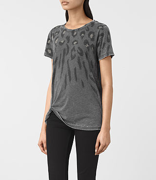 Women's Lao Mellon Tee (COAL GREY) - product_image_alt_text_2