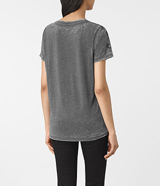 Women's Lao Mellon Tee (COAL GREY) - product_image_alt_text_3
