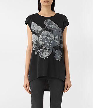 Damen Carnea Step Tee (Fadeout Black)