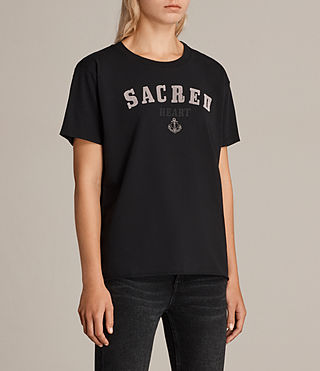 Women's Sacred Mic Tee (Black) - product_image_alt_text_2