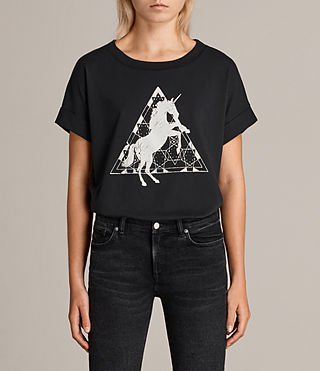 Damen Spectrum Imogen Boyfriend T-Shirt (Black) -