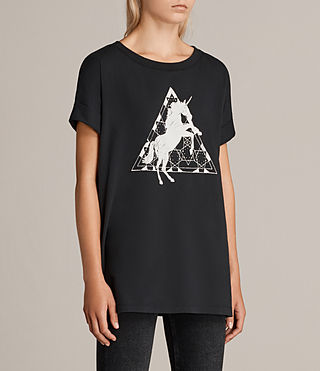 Damen Spectrum Imogen Boyfriend T-Shirt (Black) - product_image_alt_text_2