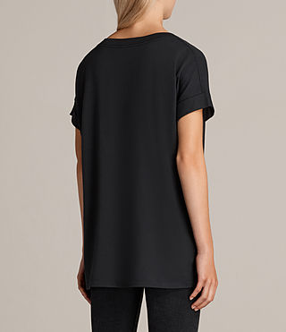 Damen Spectrum Imogen Boyfriend T-Shirt (Black) - product_image_alt_text_3