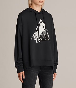 Womens Spectrum Lo Hoody (Black) - Image 2