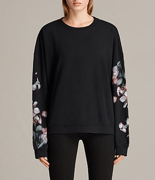 Womens Immaculate Lo Sweat (Black) - Image 3