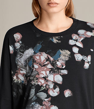 Damen Immaculate Wave T-Shirt (Black) - Image 2