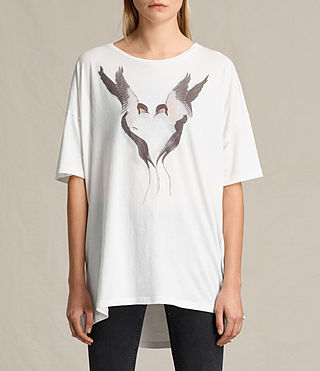 Womens Lovebird Cora Tee (Chalk White)