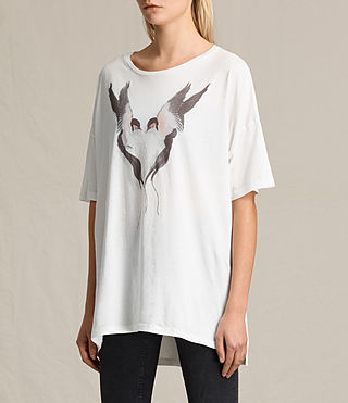 Mujer Camiseta Lovebird Cora (Chalk White) - product_image_alt_text_3