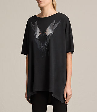 Womens Lovebird Cora Tee (Fadeout Black) - product_image_alt_text_2