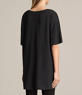 Womens Lovebird Cora Tee (Fadeout Black) - product_image_alt_text_3