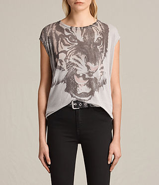 Womens Turan Brooke Tee (Grey Marl) - product_image_alt_text_1