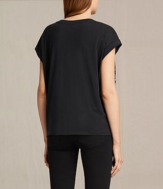 Womens Adersi Pina Tee (Fadeout Black) - product_image_alt_text_3
