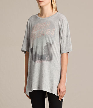 Damen Skies Cora Tee (Mist Grey Marl) - product_image_alt_text_2