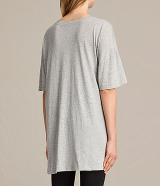 Damen Skies Cora Tee (Mist Grey Marl) - product_image_alt_text_3