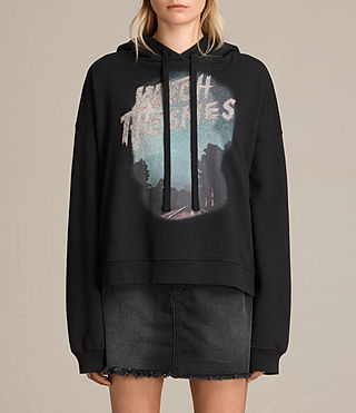 Femmes Sweat à capuche Skies Lo (Black)