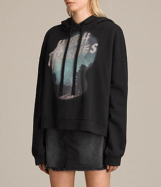 Mujer Sudadera con capucha Skies Lo (Black) - product_image_alt_text_3