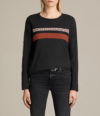 Damen Splint Sley Top (Fadeout Black)
